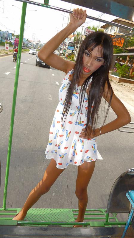 Asian trannys on bus porno photo